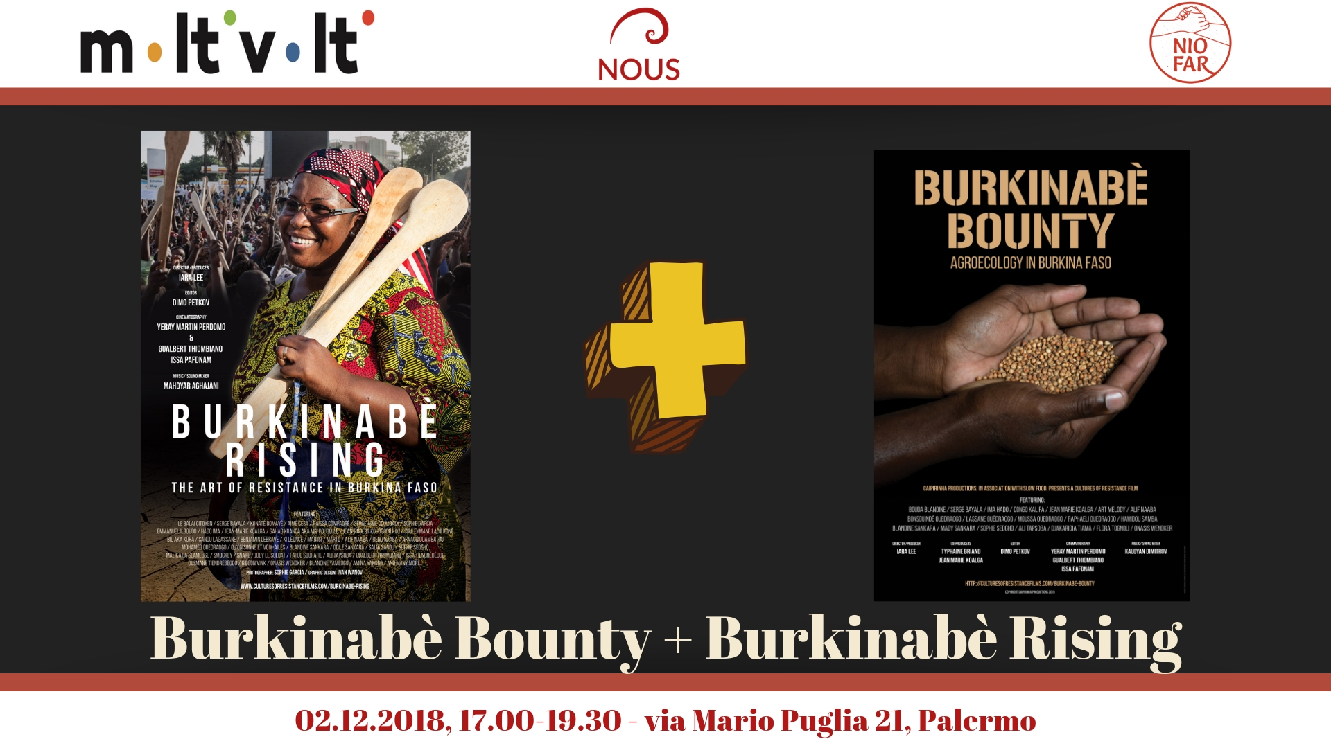 Burkinabè Rising e Burkinabè Bounty a Palermo