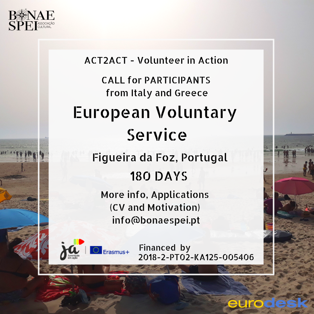 ACT2ACT – Progetto EVS in Portogallo, a Figueira da Foz