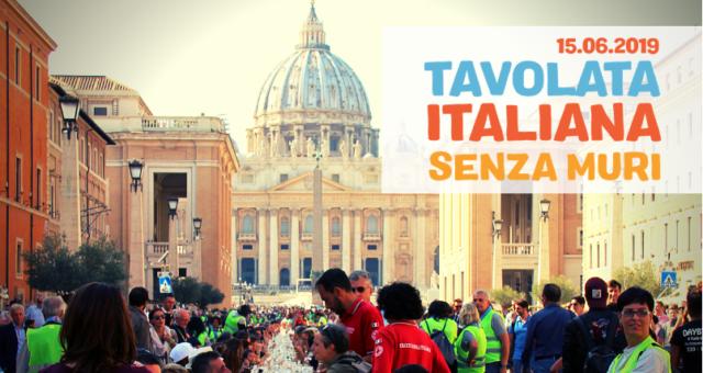 Tavolata Italiana Senza Muri a Roma – 15.06.2019