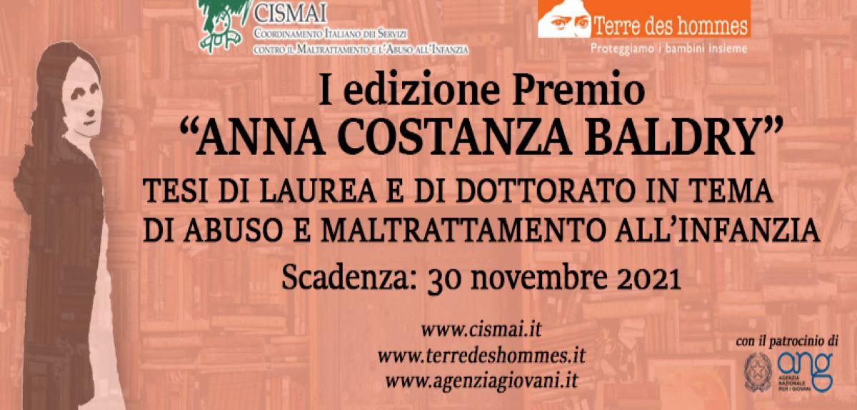 """Premio """"ANNA COSTANZA BALDRY"""""""