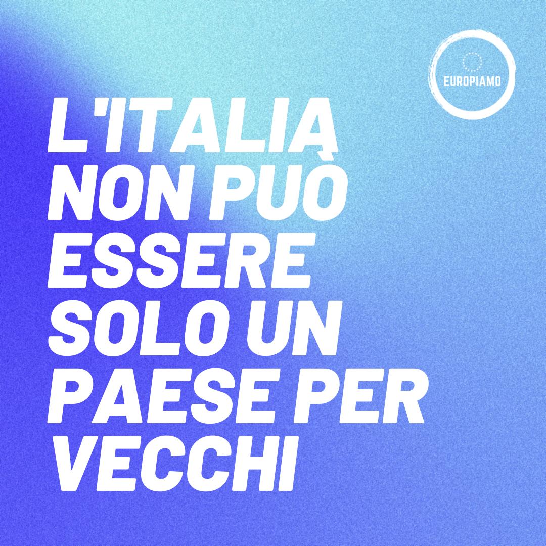 L'Italia non è solo un paese per vecchi